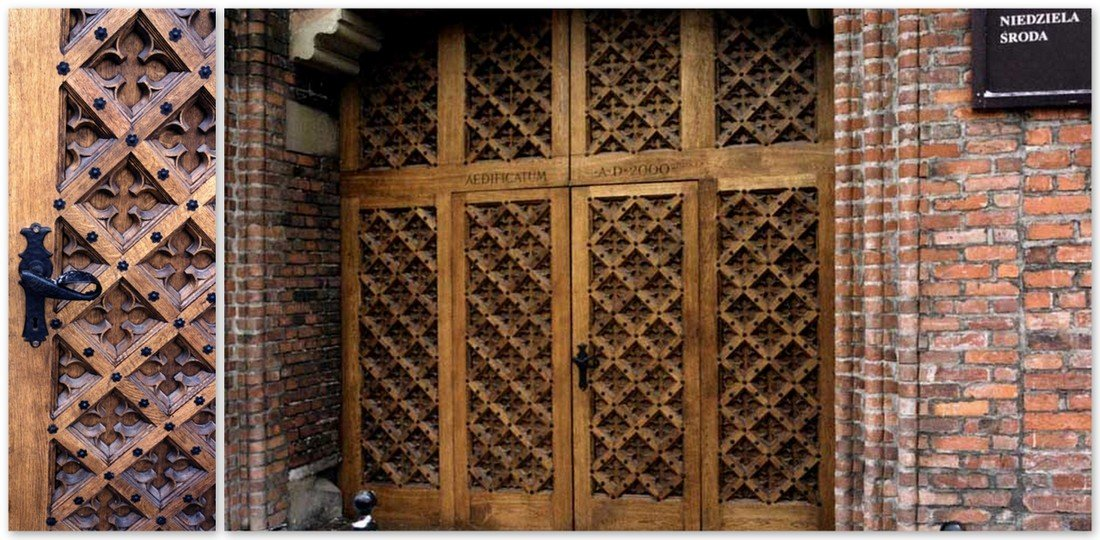 Oak timber doors – exclusive fitted carved doors – church gate