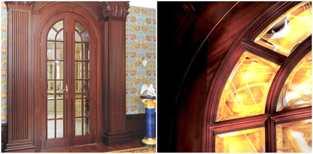 Exclusive doors made to measure – luxury sapele palace doors to size – sapele interior wooden doors