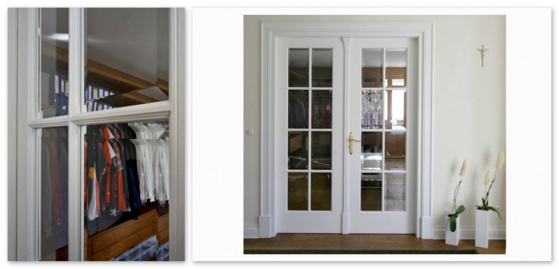 Wooden interior doors to wardrobe, wardrobe wooden fully fitted doors, solid wood