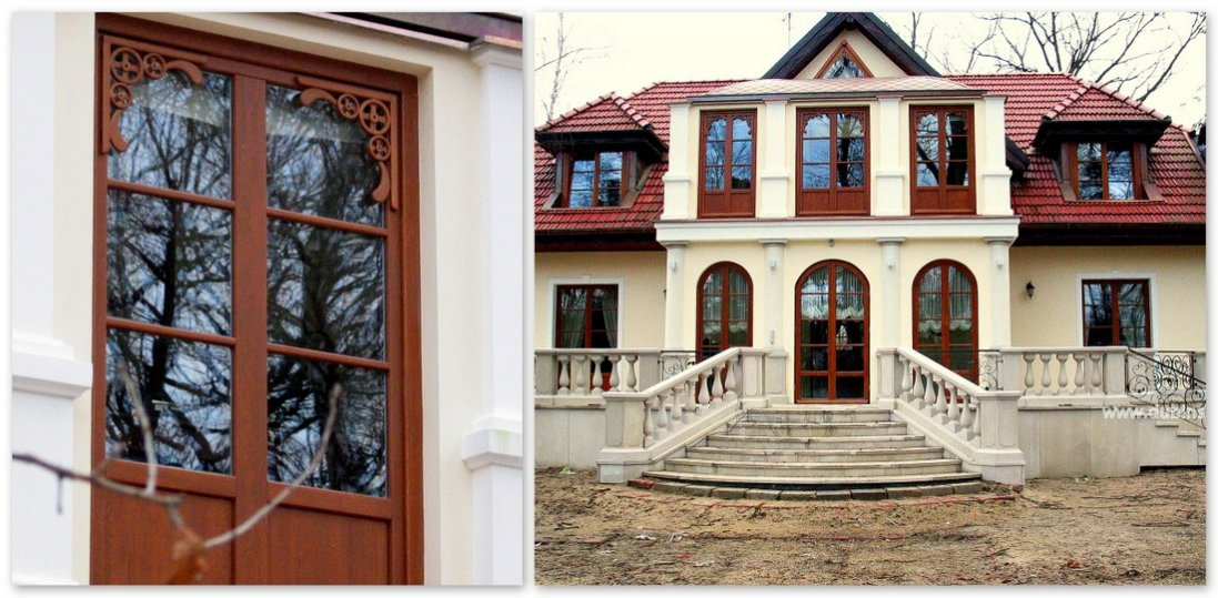 Wooden windows - meranti