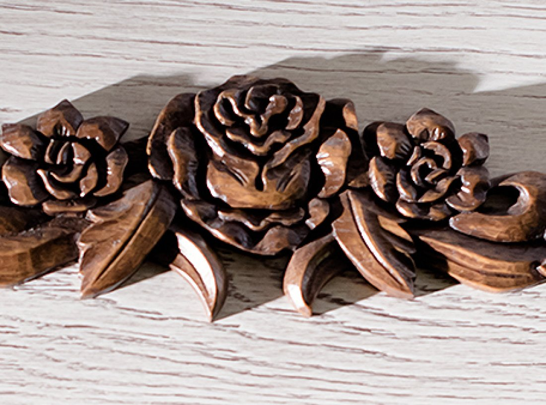 Carved doors – stylish wooden custom made doors - carved fragment