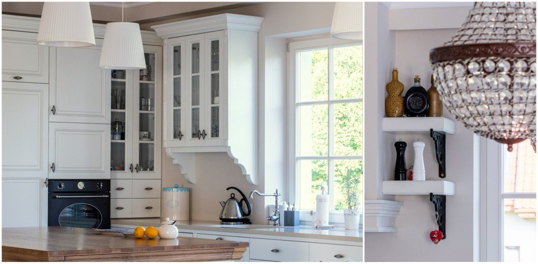 Timber windows - fitted kitchen furniture custom made wooden rustic style furniture