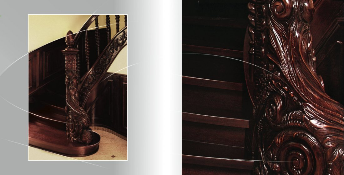 Carved stairs timber fully made to measure manufacturer