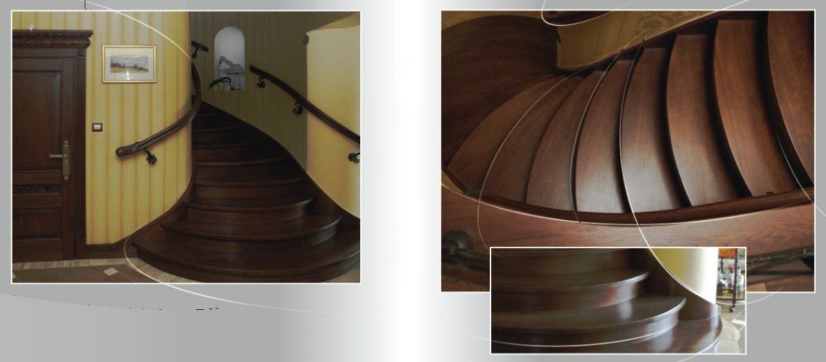 Oak wooden traditional stairs producer