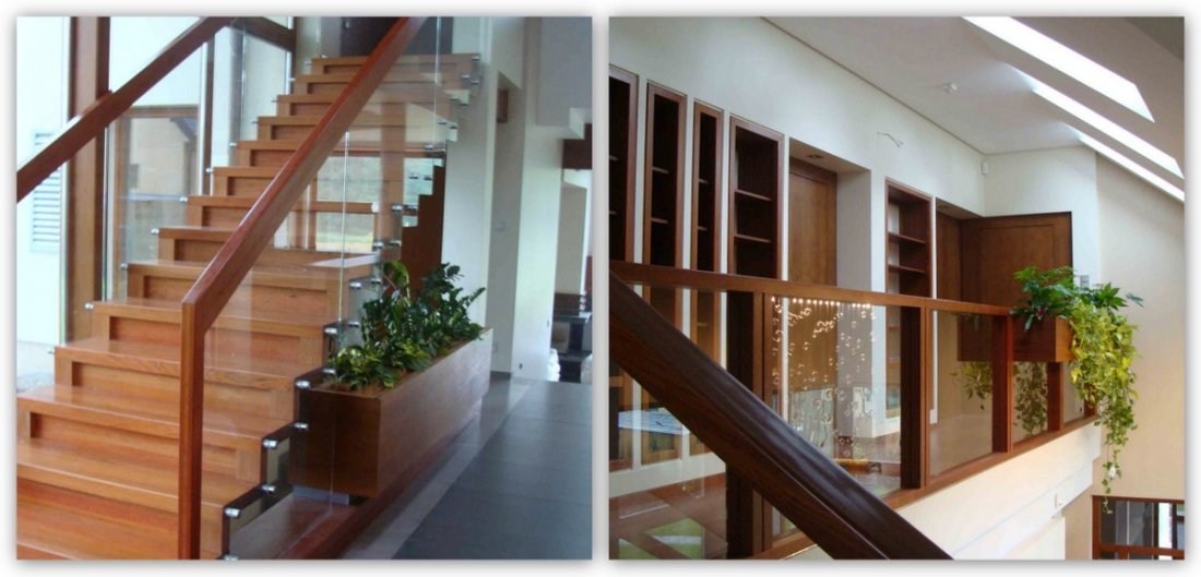 Bespoke modern stairs timber oak fitted, high quality and trwałość, long warranty