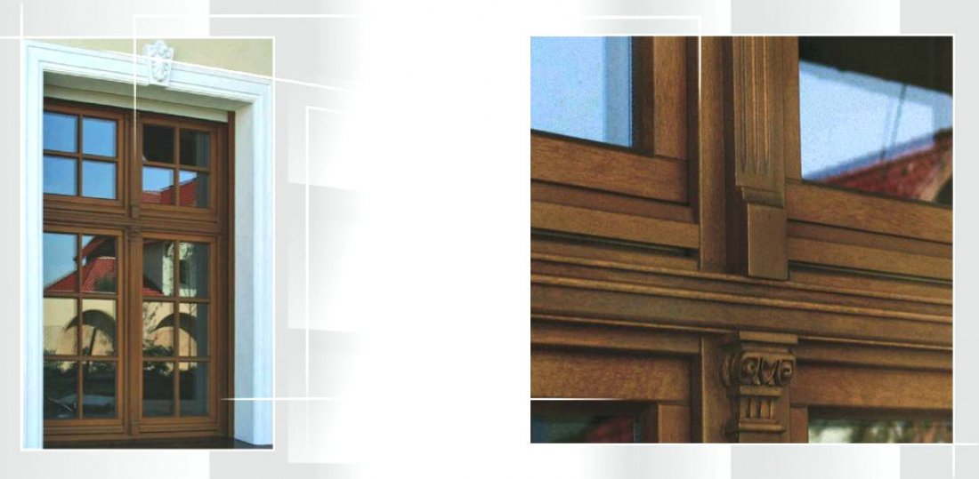Traditional windows – wooden passive windows - double casement oak windows